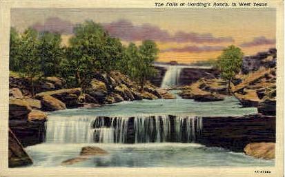 The Falls at Harding's Ranch - Misc, Texas TX Postcard