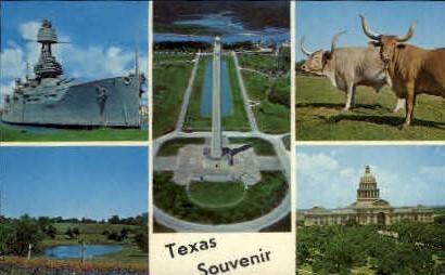 Texas Sovenir - Misc Postcard
