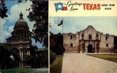 Greetings - Misc, Texas TX Postcard