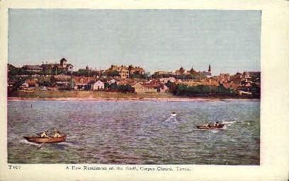 A few Residences on The Bluff - Corpus Christi, Texas TX Postcard