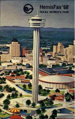 HemisFair 1968, Worlds Fair - San Antonio, Texas TX Postcard