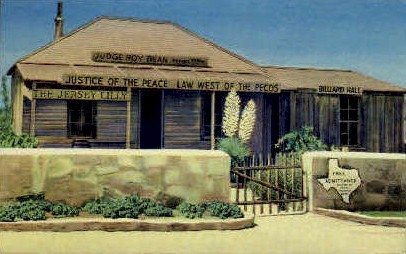 Judge Roy Bean Courthouse - Misc, Texas TX Postcard