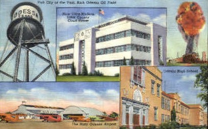 Hub City  - Odessa, Texas TX Postcard