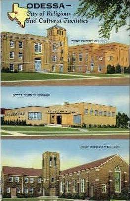 City Of Religious - Odessa, Texas TX Postcard