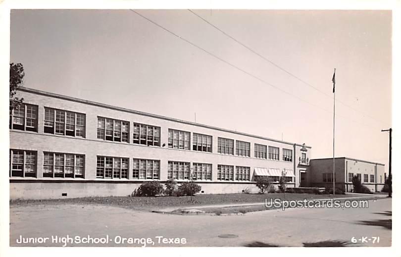 Junior High School - Orange, Texas TX Postcard