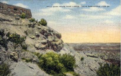 Palo Duro State Park Lodge  - Texas TX Postcard