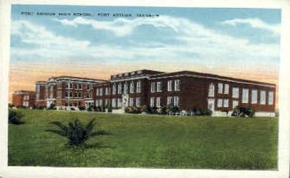 Port Arthur High School - Texas TX Postcard