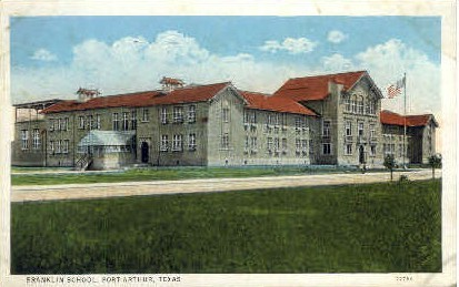 Franlin School - Port Arthur, Texas TX Postcard