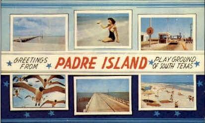 Playground of South Texas - Padre Island Postcard