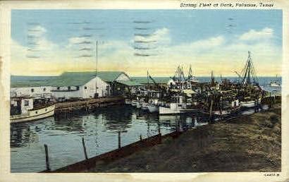 Shrimp Fleet - Palacios, Texas TX Postcard