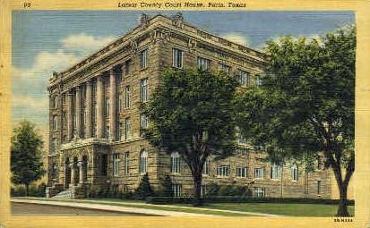 Lamar County Court House - Paris, Texas TX Postcard
