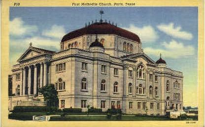 First Methodist Church - Paris, Texas TX Postcard