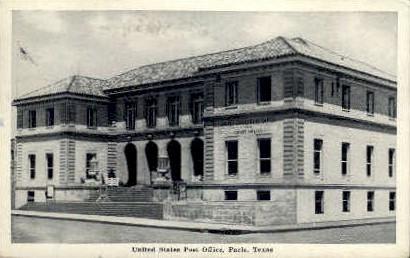 United States Post Office  - Paris, Texas TX Postcard