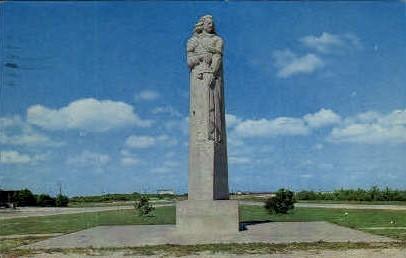La Salle Monument - Port Lavaca, Texas TX Postcard