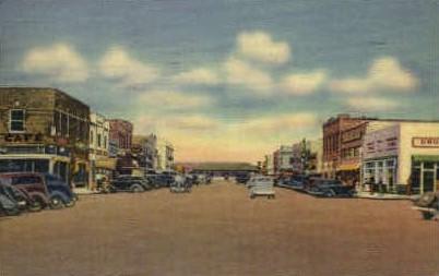Oak Street  - Pecos, Texas TX Postcard