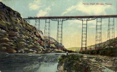 Pecos High Bridge  - Texas TX Postcard