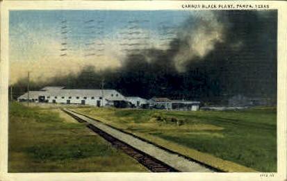 Carbon Black Plant - Pampa, Texas TX Postcard