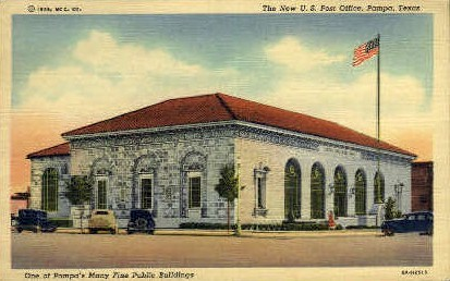 One Of Pampa's Fine Public Buildings - Texas TX Postcard