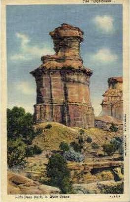 The Lighthouse - Palo Duro State Park, Texas TX Postcard