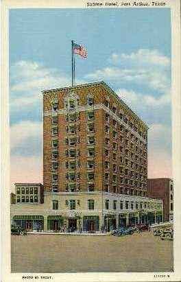 Sabine Hotel - Arthur, Texas TX Postcard