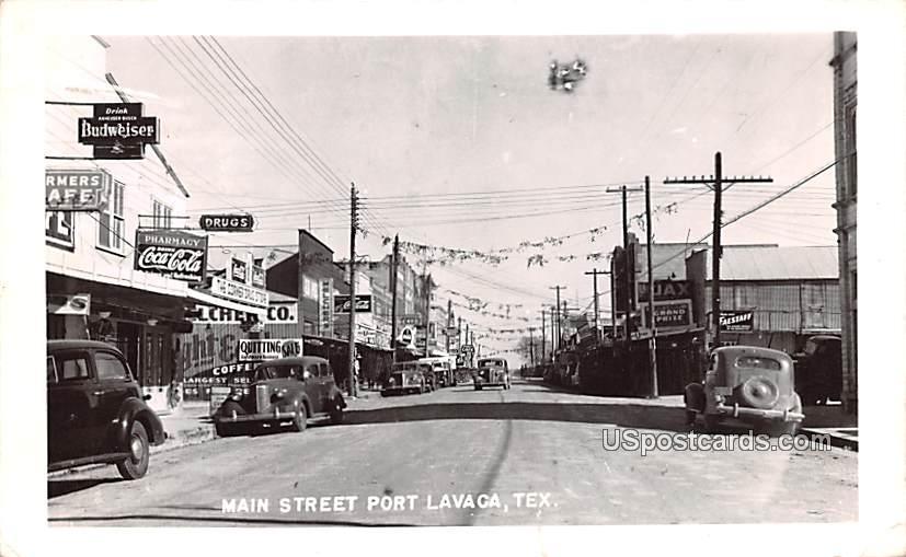Main Street - Port Lavaca, Texas TX Postcard