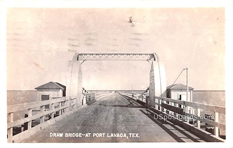 Draw Bridge - Port Lavaca, Texas TX Postcard