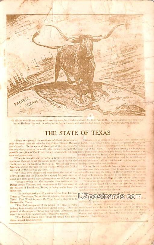 The State of Texas - Pecos Postcard