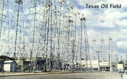 Texas Oil Field - Kilgore Postcard