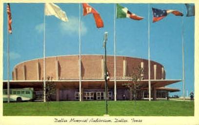 Dallas Memorial Auditorium - Texas TX Postcard