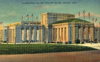 Convention Hall - Houston, Texas TX Postcard