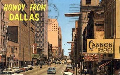 Downtown - Dallas, Texas TX Postcard