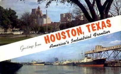 Industrial Frontier - Houston, Texas TX Postcard