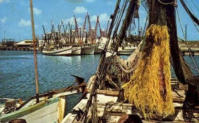 Shrimping boat - Misc, Texas TX Postcard
