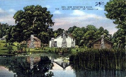 General Sam Houston's Home - Texas TX Postcard