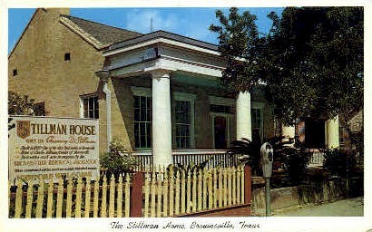 The Stillman Home - Brownsville, Texas TX Postcard