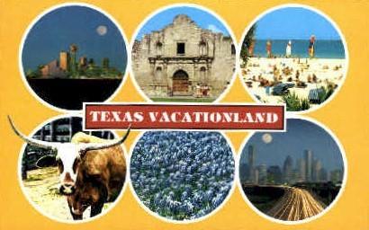 Vacationland - Misc, Texas TX Postcard