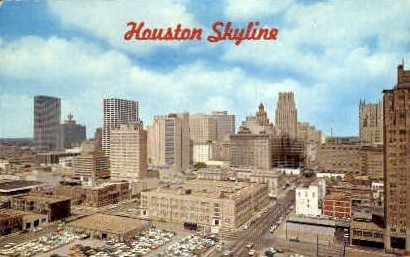 Skyline - Houston, Texas TX Postcard