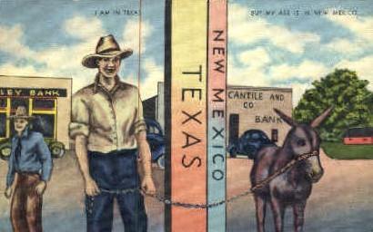 Texas/New Mexico Bordere - Misc Postcard