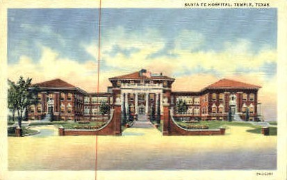 Santa Fe Hospital - Temple, Texas TX Postcard