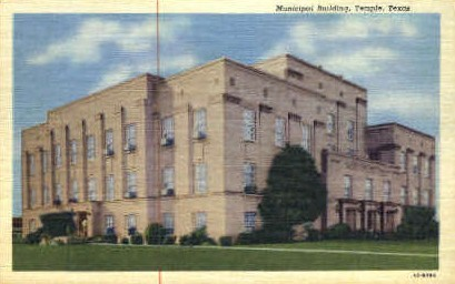 Municipal Building - Temple, Texas TX Postcard