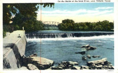 Leon River - Temple, Texas TX Postcard