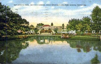 Rock Springs Park - Fort Worth, Texas TX Postcard