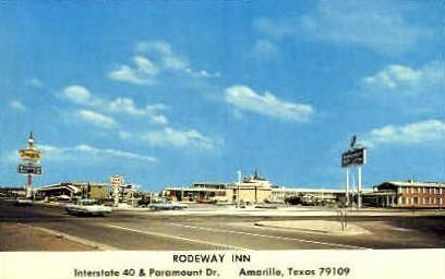 Rodeway inn - Amarillo, Texas TX Postcard