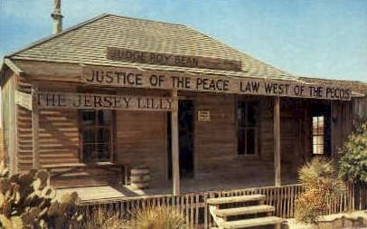 Judge Roy Bean's Court House - Langtry, Texas TX Postcard