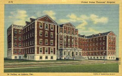 United State Veterans' Hospital - Lisbon, Texas TX Postcard