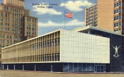 Dallas Public Library - Texas TX Postcard