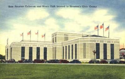 Sam Houston Coliseum - Texas TX Postcard