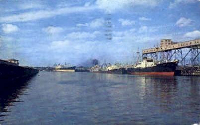 The Ship Channel - Houston, Texas TX Postcard