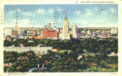 Skyline - San Antonio, Texas TX Postcard