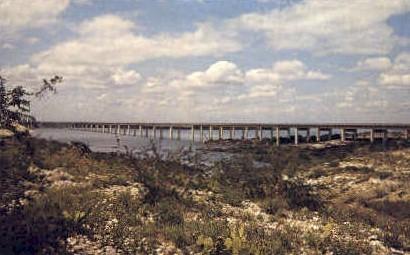 Highway Bridge - Del Rio, Texas TX Postcard